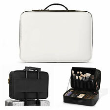 Professional Large Makeup Case Travel Cosmetic Box Adjustable Dividers Organizer