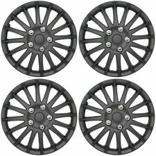 "Lightening Black 14"" Car Wheel Trims Hub Caps Plastic Covers Universal (4Pcs)"