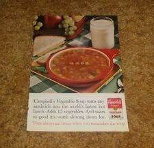Vintage 1966 Cambell's Soup Original Full Page Color Magazine Print Ad