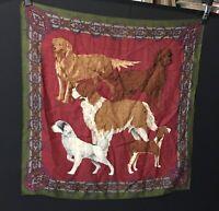 "scarf vintage dog lover 32 x 34"" Damage Read Description"