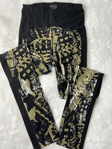 Eva Varro Multi Color Leggings Yoga Palazzo Pants Size S. Beautiful Quality! EUC