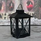 kleine Laterne Metall schwarz Teelicht Windlicht Metalllaterne Advent Basteln