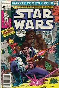 STAR WARS #7 1977 FIRST PRINT GRADED FN- MARVEL COMICS GROUP