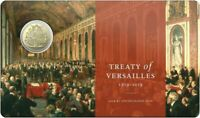 2019 $1 UNC Treaty of Versailles Coin in Card from RAM Limited Collectable