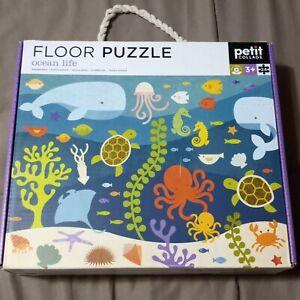 """Petit Collage Ocean Life Floor Puzzle 24Pc 18"""" x 24"""""""