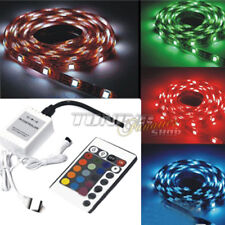 5m HIGH Power RGB LED SMD 5050 Strip Kette Streifen Band Leiste + Fernbedienung