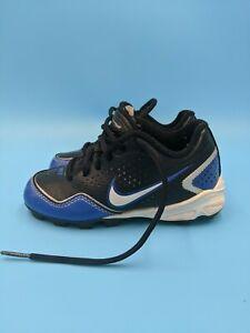 Kids Nike Keystone Blue Black Gray Baseball Cleats Size 10C