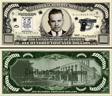 John Dillinger Million Dollar Bill Collectible Fake Funny Money Novelty Note