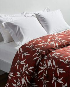 NEW Frette CHINOISERIE Queen Floral Duvet Cover Bordeaux Red Made in Portugal