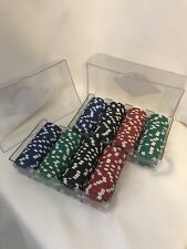 Ceramic Poker Chips 200+ Red Green Blue And Black