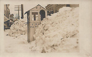Kane PA Popcorn Stand Note The Snow Real Photo Postcard