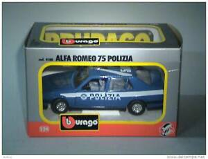 BURAGO 1:24 ALFA ROMEO 75 Polizia - POLICE