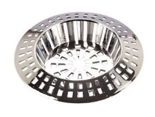 """Silver Plastic Sink Strainer 70mm Diameter To Fit 45mm 1 3/4"""" Plug Hole 2191"""