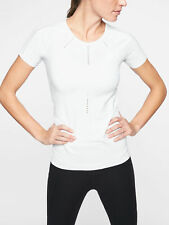 Athleta Foothill Tee, Hydrogen Relaxed Mesh Tee, Bright White, Size S, NWT