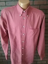 The Arrow Company Men's Button-up Long Sleeve Shirt Red 15 1/2 34/35