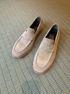 Men's Cole Haan Feathercraft Grand Penny Loafer in rock ridge suede size 9.5