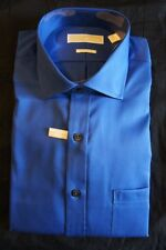 Michael Kors Mens Dress Shirt Sz 16½ French Blue Solid Non Iron Button Front