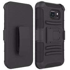 For Samsung Galaxy S7 Active | Slim Box Hybrid Holster Case with Kickstand Heavy