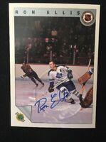 RON ELLIS 1992 ULTIMATE AUTOGRAPHED SIGNED AUTO HOCKEY NHL CARD EMBOSSED