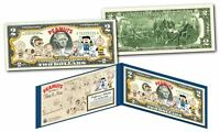 THE PEANUTS GANG 1950 Cartoon Strip THEN & NOW Genuine Legal Tender $2 US Bill