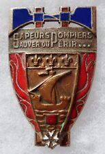 Insigne BSPP BATAILLON SAPEURS POMPIERS PARIS 1947 Drago O.M. OBSOLÈTE ORIGINAL