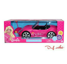 Barbie RC Car Glam Convertible Remote Control Sparkly Pink Vehicle Play Fun Toy