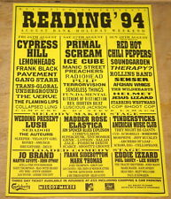 READING 1994 RADIOHEAD JEFF BUCKLEY PULP MANICS VERVE LUSH RARE HANDBILL FLYER