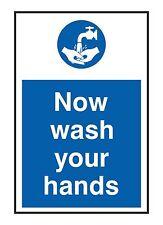 1x Now Wash Your Hands Sticker for Home Door WC Store Restaurant Clean Hygiene