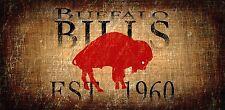 "Buffalo Bills Retro Throwback Established 1960 Wood Sign - NEW 12"" x 6"""