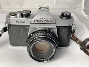 Pentax K1000 Film Camera &  50mm F2 Lens, Meter Working, New Seals, Superb