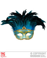 Blue Comtesse Mask Venetian Masquerade Ball Carnival Fancy Dress Accessory