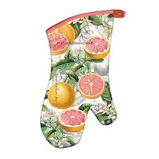 Michel Design Works Oven Mitt - Pink Grapefruit