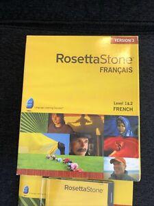 Rosetta Stone French Français Level 1 & 2