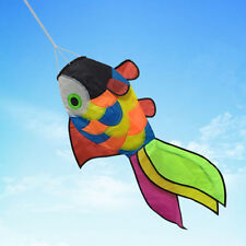 Rainbow Fish Kite Windsock Wind Spinner Garden Decor Kids Line Laundry Kids Toys