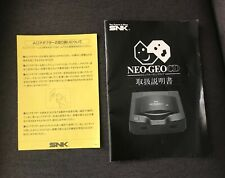 SNK Neo Geo CD User's Manual Console Loading Notice Instruction Booklet Genuine