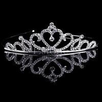 Crystal Wedding Prom Crown Rhinestone Hair Jewelry Headband Bridal Veil Tiara