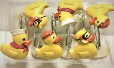 12 Resin Yellow Ducky Shower Curtain Hooks