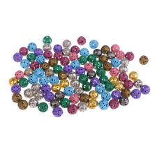 100pcs Iron Hollow Metal Beads for Craft Loose Spacer Beads Round Beads 8mm