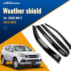 4 Weathershields Fit for Isuzu MUX MU-X 2013-2020 Weathershield Rain Deflectors