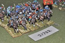 25mm medieval / spanish - heavy 10 figs cavalry - cav (21722)