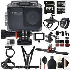 Vivitar DVR794HD Waterproof Action Camera Camcorder Black with Accessory Bundle