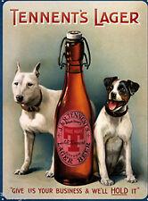 Nostalgic Art Magnet Tennents Lager Hunde mit Bier für Kühlschrank 6 cm x 8 cm