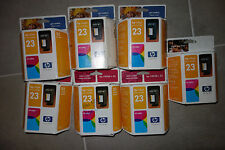 Lot of 7 HP 23 ink cartridge ~ new in box GENUINE
