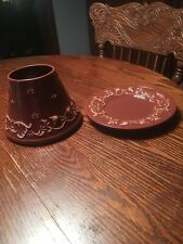 Yankee Candle Floral Candleholder Shade And Plate