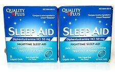 Quality Plus - Sleep Aid, Diphenhydramine HCI 50mg, Nighttime Sleep-Aid (2 Pack)