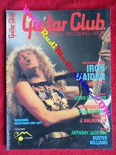 rivista GUITAR CLUB 3/1991 Steve Lukather Iron Maiden Queensryche  No cd