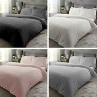 Teddy Fleece Duvet Cover Bedding Set Fitted Sheet Cosy Teddy Bear Warm Sherpa