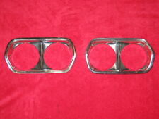72 1972 Ford Gran Torino Ranchero GT Headlight Cover Bezel Set Pair