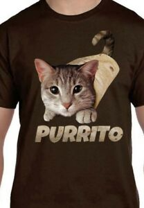 Purrito - Cat Shirt - Kitten - Cat Wrapped in Tortilla - Funny Shirt - Sm - 5X