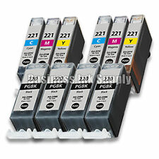 10+ PACK PGI-220 CLI-221 Ink Tank for Canon Printer Pixma iP3600 iP4600 NEW